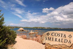 Sardinia island with beautiful beaches in Italy Stock Photography