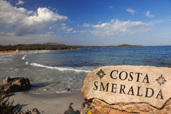 Sardinia island with beautiful beaches in Italy Stock Images