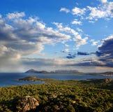 Sardinia island with beautiful coast in Italy Royalty Free Stock Photography