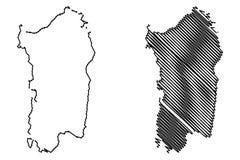 Sardinia island map vector Stock Image