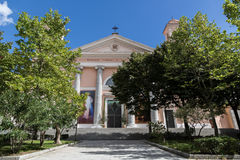 Sardinia Italien - domkyrka på den Sardinia ön royaltyfria bilder