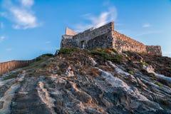 Sardinia Italien - finnas i överflöd militär fästning royaltyfria foton