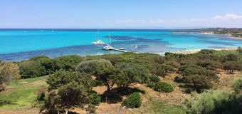 Sardinia Italien kustlinje Royaltyfria Bilder