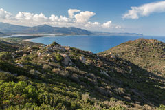 Sardinia Italien - landskap av den Sardinia ön Arkivbilder
