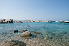 Sardinia, Italy. Crystal water in Mediterranean sea Stock Photography