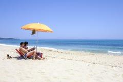 Sardinia, italy europe, south east coast, coast beach rei. View of coast rei beach in the south east coast of sardinia stock photos