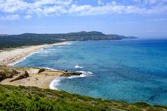 Sardinia, italy, europe, the south west coast, beach san nicolò Royalty Free Stock Image