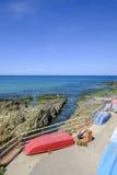 Sardinia, italy, europe, the south west coast, beach san nicolò. View san nicolò beach in the south west coast of sardinia stock photos