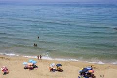 Sardinia, italy, europe, the south west coast, beach san nicolò. View san nicolò beach in the south west coast of sardinia stock photography