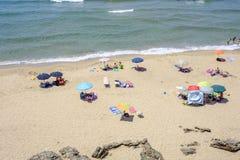 Sardinia, italy, europe, the south west coast, beach san nicolò. View san nicolò beach in the south west coast of sardinia royalty free stock photo