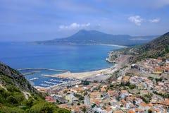 Sardinia, italy, europe, south-west coast, buggerru. View of the town of buggerru the southwest coast of sardinia royalty free stock photo