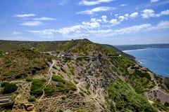 Sardinia, italy, europe, south west coast. View south west coast of sardinia near nebida stock photography