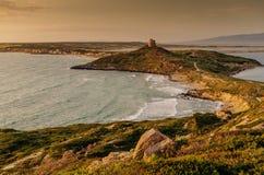 Sardinia, Italy: San Giovanni di Sinis in sunset Stock Image