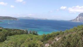 Sardinia italy  tavolara island stock video
