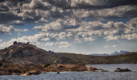Sardinia landscape bear rock  palau Stock Photo