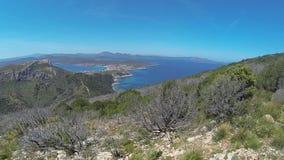 Sardinia landscape golfo aranci stock footage