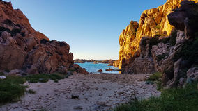 Sardinia landscape. Paradiso coast in Sardinia, Italy Royalty Free Stock Photo