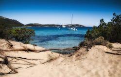 Sardinia  landscape pevero bay sea. ITALY SARDINIA  landscape pevero bay sea Royalty Free Stock Photos