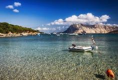 Sardinia  landscape  tavolara island Stock Photos
