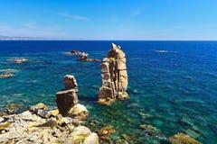 Sardinia - Le Colonne, Carloforte stock image