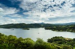 Sardinia, Liscia Lake Royalty Free Stock Images