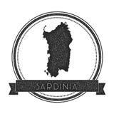 Sardinia map stamp. Stock Image