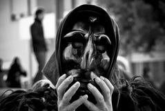 Sardinia. maskeringen av Mamuthone Royaltyfri Bild