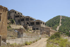 Sardinia. mining abandoned building stock photo