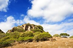 Sardinia, Monte Arci imagens de stock