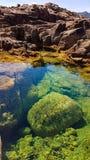 Sardinia naturlig sjö fotografering för bildbyråer