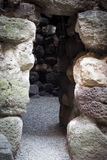 Sardinia. Nuraghe detaljer arkivbild