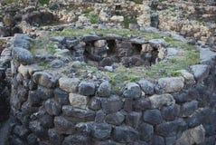 Sardinia. Nuraghe sikt Arkivbilder