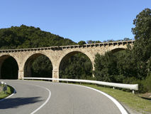 Sardinia. Nuxis, bridge Stock Images