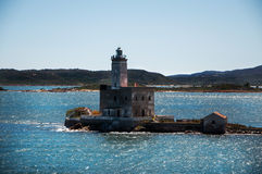 Sardinia olbia lighthouse Royalty Free Stock Images