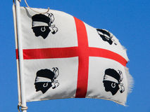 Sardinia. Old flag to wind Stock Images