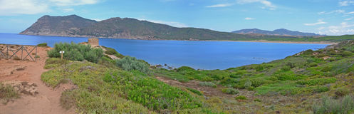 Sardinia panorama landscape, Italy Stock Images