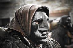 Sardinia. Parada de Mamuthones Imagens de Stock