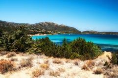 Sardinia pevero beach. Sardinia italy landscape pevero beach esmerald cost Royalty Free Stock Photo