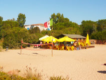 Sardinia porto istana bar on the beach Stock Photo