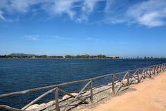 sardinia Posti scenici in costa sud Fotografia Stock Libera da Diritti