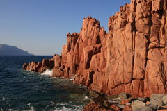 Sardinia red rocks Stock Photography
