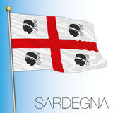 Sardinia regional flag, Italy Royalty Free Stock Image