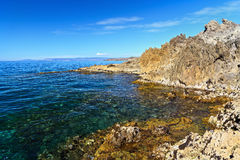 Sardinia - rocky shore in San Royalty Free Stock Photo