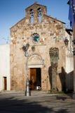 Sardinia.Romanesque-kyrka Fotografering för Bildbyråer