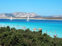 Sardinia sea. Sea landscape in Sardinia, Italy Stock Photos