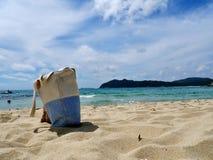 Sardinia sea and bag Royalty Free Stock Photos
