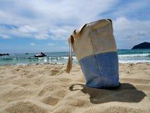 Sardinia sea and bag Royalty Free Stock Photography