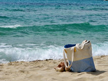 Sardinia sea and bag Royalty Free Stock Photo