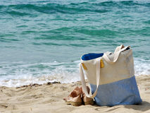 Sardinia sea and bag Stock Images