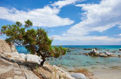 Sardinia sea coast resort in Italy Royalty Free Stock Photography